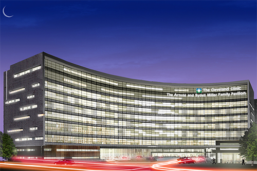 Cleveland Clinic at night, Cleveland, OH.